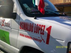 Oswaldo's team van!