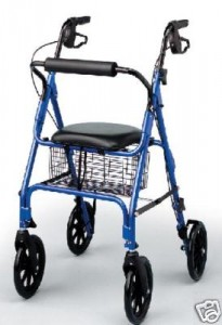 Rollator Medline Blue 8 inch Wheels