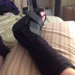 My booted foot